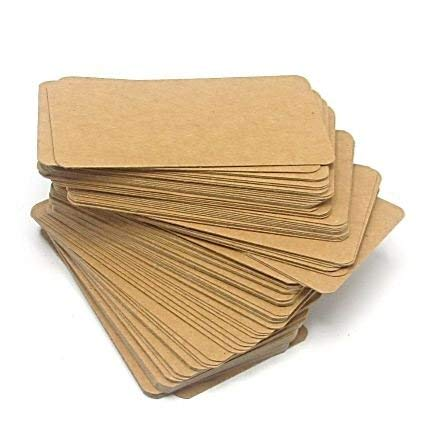 ko Papier Mini Cards 100PCS IN A BOX-Nachricht, Business Karte-4,4x 8,1cm-Braun ()