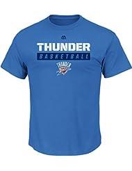 """Oklahoma City Thunder Majestic NBA """"Proven Pastime"""" Short Sleeve Men's T-Shirt Chemise"""