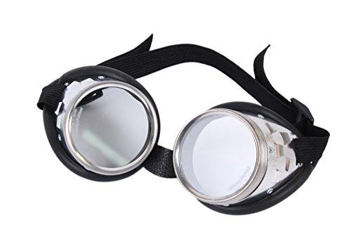WELDINGER Schraubringbrille / Korbbrille mit klaren Gläsern VSG Sicherheitsglas ()