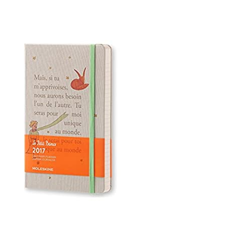 Moleskine 2017 Le Petit Prince Limited Edition Daily Planner, 12m, Large, Light Grey, Hard Cover (5 X 8.25)
