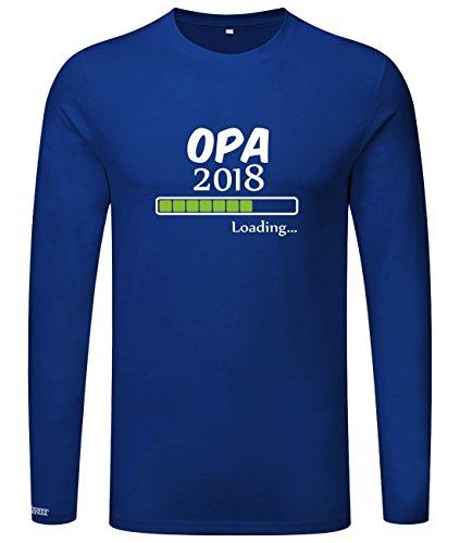 Opa loading 2018 - Herren Langarmshirt Royalblau