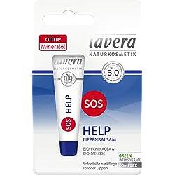 Lavera SOS HELP - Balsamo per labbra, confezione da 3 (3 x 8 g)