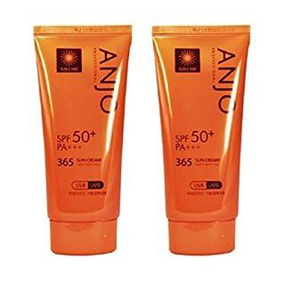 ANJO Secret Black 365 Sun Cream 70G X 2Pcs Daily Sun Block Spf50+ Pa+++ Uva Uvb Protection
