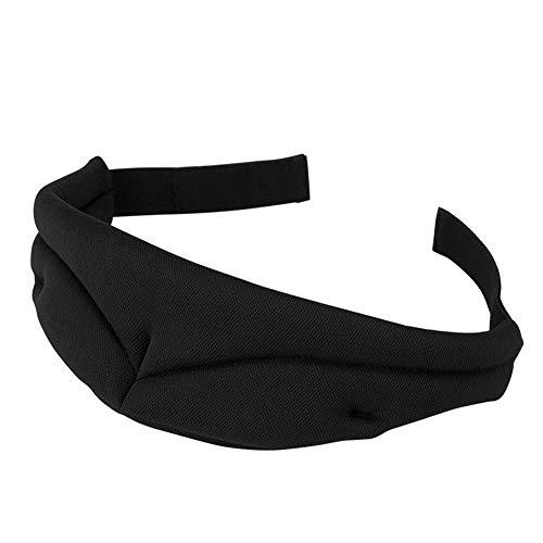 Melodycp Augenmaske, Augenmaske, Schlafmaske, Luftfahrt, Schlafmaske, Mittagspause Reisen, Seide, hilft beim Schlafen und Schlaf Einstellbare Augenmaske Schwarz