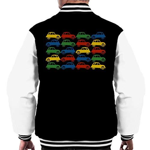Citroën 2CV Vintage Multi Colour Pattern Men's Varsity Jacket