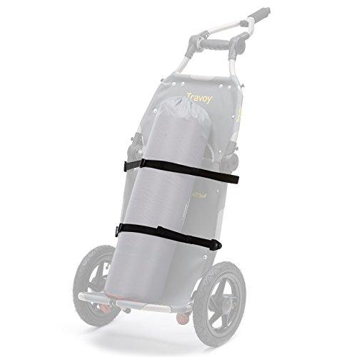Burley Travoy Fahrrad Lastenanhänger und Einkaufs-Trolley (inkl. Kupplung) – Set mit schwarzen Einkaufstaschen - 5