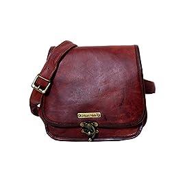 Handmade Genuine Leather Ladies Satchel Purse Handbag, Leather Messenger Bag for Women