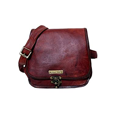 Handmade Genuine Leather Ladies Satchel Purse Handbag, Leather Messenger Bag for Women