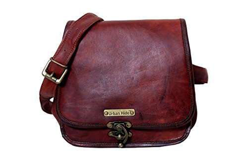 - 41JMmIYd3IL - Handmade Genuine Leather Ladies Satchel Purse Handbag, Leather Messenger Bag for Women