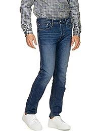 812f23c1d1 JACK   JONES Men s Tim Original Am 814 Intelligence Jeans Blue in Size 30W  34L