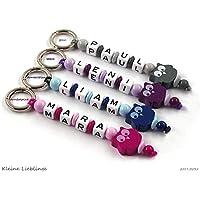 Schlüsselanhänger mit Namen - handmade - Kinder - Erwachsene - Taschenbaumler - Eule - Schlüsselring - verschiedene Farben - Schlüsselanhänger mit Gravur