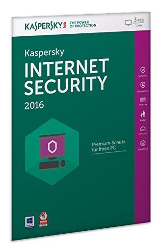 Kaspersky Internet Security 2016 - 3 PCs / 1 Jahr (Frustfreie Verpackung) -