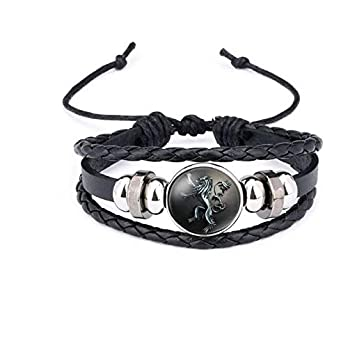 Armband Game of thrones, winter is coming, Lannister Logo, Bracelet, Schmuck,Gewölbter Glas Symbol Geflochten Armband