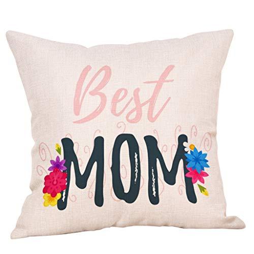 Storerine Muttertag spezielle Kissen, Muttertag gedruckt Baumwolle Leinen Kissenbezug Kissenbezug Sofa Dekoration