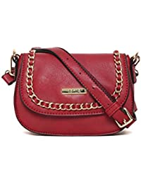 Toniq Faux Leather Maroon Valencia Sling Bag