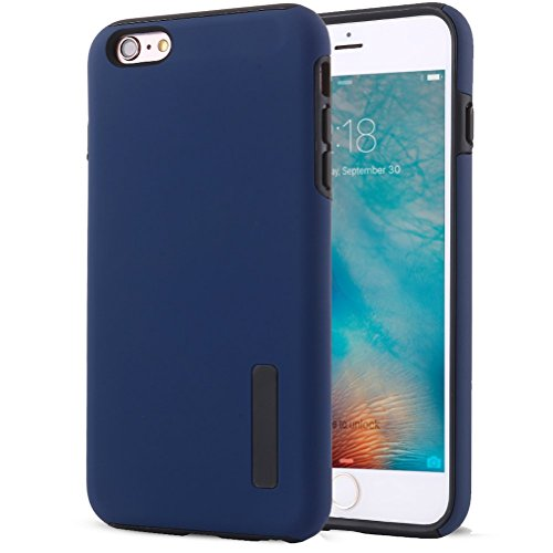 "iPhone 6S Plus Coque, HICASER Anti-choc Silicone Dual Layer Hybride Case TPU et PC [Full-Body] Protection Etui pour iPhone 6 Plus/6S Plus 5.5"" Blanc Bleu"