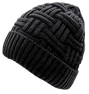 MAGIC Women's Winter Beanie Hat Warm Cuff Knit Ski Skull Cap(Black)