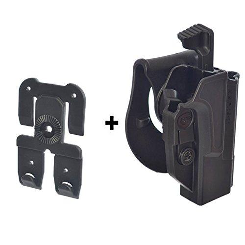ORPAZ Taktisch verstellbar drehbar Paddle Pistole Thumb Release Sicherheit + Molle Adapter Attachment für alle 1911 mit oder ohne Picatinny Rail - Colt, Sig, Kimber, S&W, Taurus,Ruger -