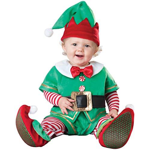 hnachtsoutfit Babykleidung Strampler Lange Hülse Spielanzug Baby Kids Dress Up Santa Schneemann Elk Elf Kostüm,Größe:80-100 ()