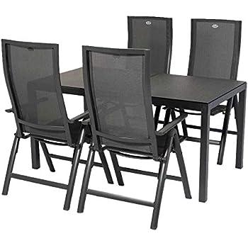gartenm bel set hartman leonardo 5 teilig alu anthrazit. Black Bedroom Furniture Sets. Home Design Ideas