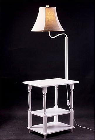 KDLD lampadaires ® Tissu abat-jour lampe de plancher de fer avec des étagères Poussez lampadaires de commutateur de bouton pour le