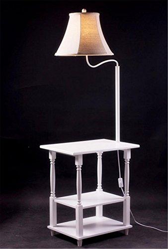KDLD Stehleuchten ® Stehlampe Stoff Lampenschirme Eisen Stehlampe mit Regalen Druckknopfschalter Stehlampen für das Wohnzimmer