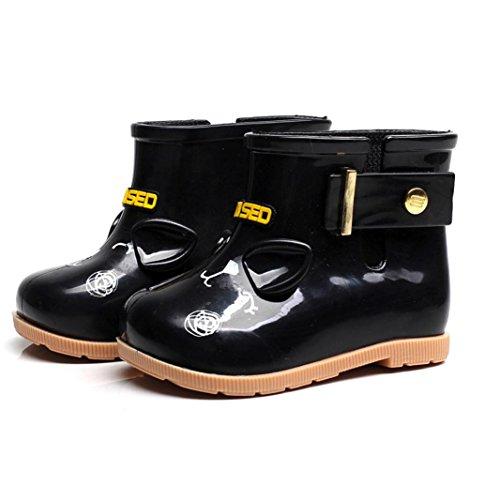VNEIRW_Baby Rain Boots Kids Baby,VNEIRW Cartoon Cat Design Anti-slip Rubber Boys Girls Rain Shoes Wellies