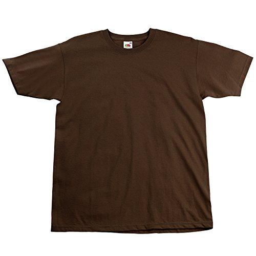 Fruite of the Loom Super Premium T-Shirt, Chocolate, Gr.S S,Chocolate