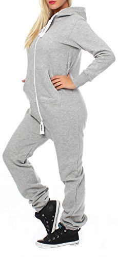 Drying Jumper Damen Jumpsuit Overall Jogging Anzug Trainingsanzug Hellgrau