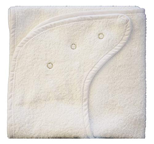 Hochwertige Lätzchen für Erwachsene oder für kleine Kinder - Esslätzchen Esschürzen Extra lang und breit 48 x90cm (2 Pack, mit Druckknöpfen)