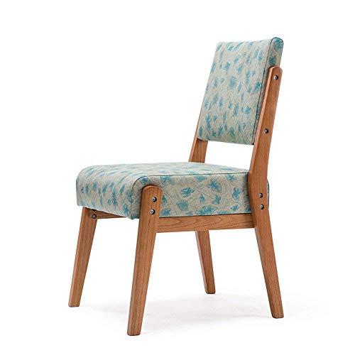 Lvluoye scrivania e sedia, sedia schienale, sedia da ufficio, moderni semplici tavoli e sedie tavolino, in legno massello sedia da pranzo nordico, divano poltrona -blue