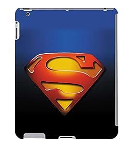 Fuson 3D Printed Super Man Logo Designer Back Case Cover for Apple iPad 2 - D951