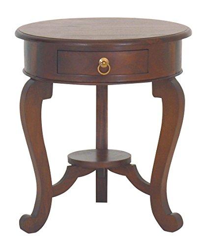 Nes Möbel NES feine Handarbeit Möbel Mahagoni massiv Holz Queen Anne Ende Tisch–61cm Licht Pecan (Queen-anne-cocktail)