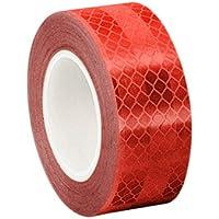 3M 3432 Micro Prismatic Reflektierendes Klebeband, 22 mm x 4,6 m, Rot