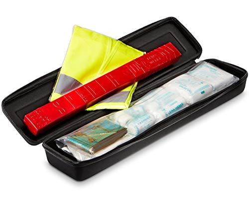 erste hilfe auto set KFZ 3in1 Premium Kombitasche - Trio mit Warnweste, Verbandskasten, Warndreieck - Erste Hilfe Set für Autos nach DIN 13164 mit Klettstreifen zur Befestigung