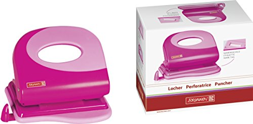 Brunnen 102062726 Locher Colour Code (ausziehbare Anschlagschiene, zum Lochen von bis zu 20 Blatt) pink