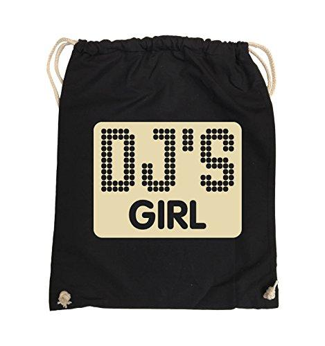 Bags Farbe Comedy PUNKTE Beige Schwarz NEGATIV Schwarz Turnbeutel GIRL 37x46cm DJS Pink RwwqgA