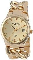 Akribos XXIV Reloj con movimiento cuarzo suizo Ladies Schweizer Quarz Genuine Diamond Twist Chain Bracelet Watch 38 mm de Akribos XXIV