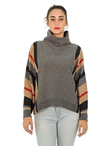 MaxMara Weekend maglione donna collo alto PANARO (M, GRIGIO SCURO)