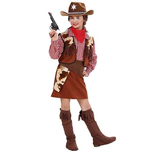 Widmann 58817 Kinderkostüm Cowgirl, Mädchen, Mehrfarbig, 140 (Mädchen Cowboy Kostüm)