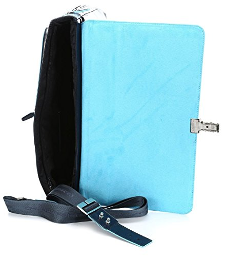 41JMwELU0lL - Piquadro Blue Square maletín fino expanible portaordenador concompartimento portaiPad®/iPad®Air - CA3111B2
