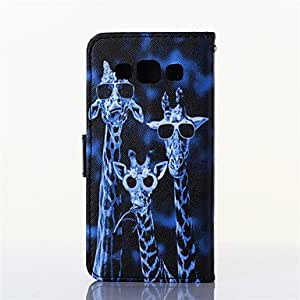GENERIC Giraffe Pattern PU Material Card Full Body Case for Samsung Galaxy J7 #03964331