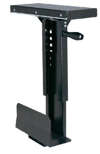 ROLINE Slim PC-Halterung | Untertisch Halter für den Computer | Ausziehbar und verstellbar | Schwarz