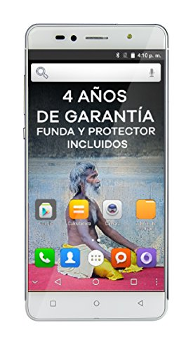 "Intex Aqua Shine - Smartphone libre Android (4G, 5"", Dual SIM, 8 MP), color blanco"