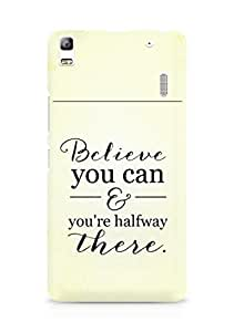 AMEZ believe you can and you are there halfway Back Cover For Lenovo K3 Note