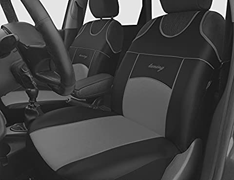 2 GREY FRONT ECO LEATHER SEAT COVERS PROTECTORS FOR CHEVROLET ORLANDO