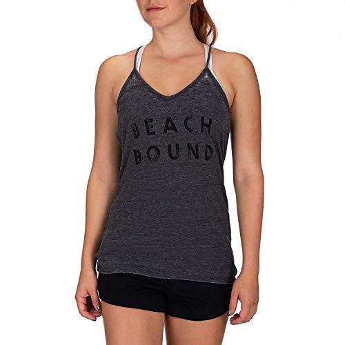 Hurley Damen Tanktop W Beach Bound Burnout, Black Htr, M, BQ0409