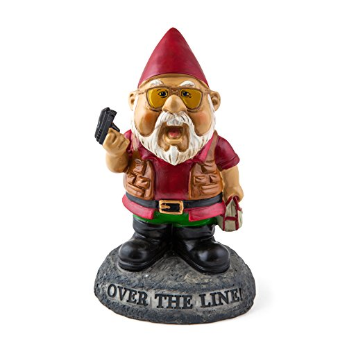 "Bigmouth INC ""Over the Line."" Garden Gnome Statuen"