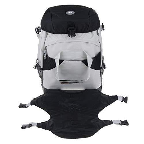 perfk Rollschuh -Rucksack für Inline-Skates oder Schlittschuhe - Schwarz (Skate Willkommen)