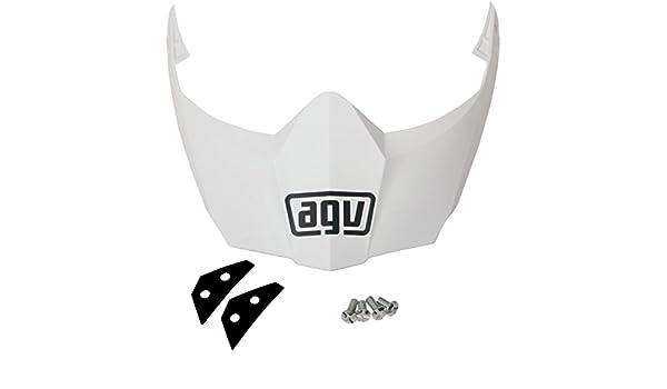 White KIT76109001 AGV Helmet Visor for AX-8 Dual Sport EVO